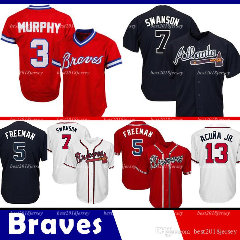 9d5b22331 Atlanta Braves Jersey 13 Ronald Acuna Jr. Jerseys 5 Freddie Freeman ...