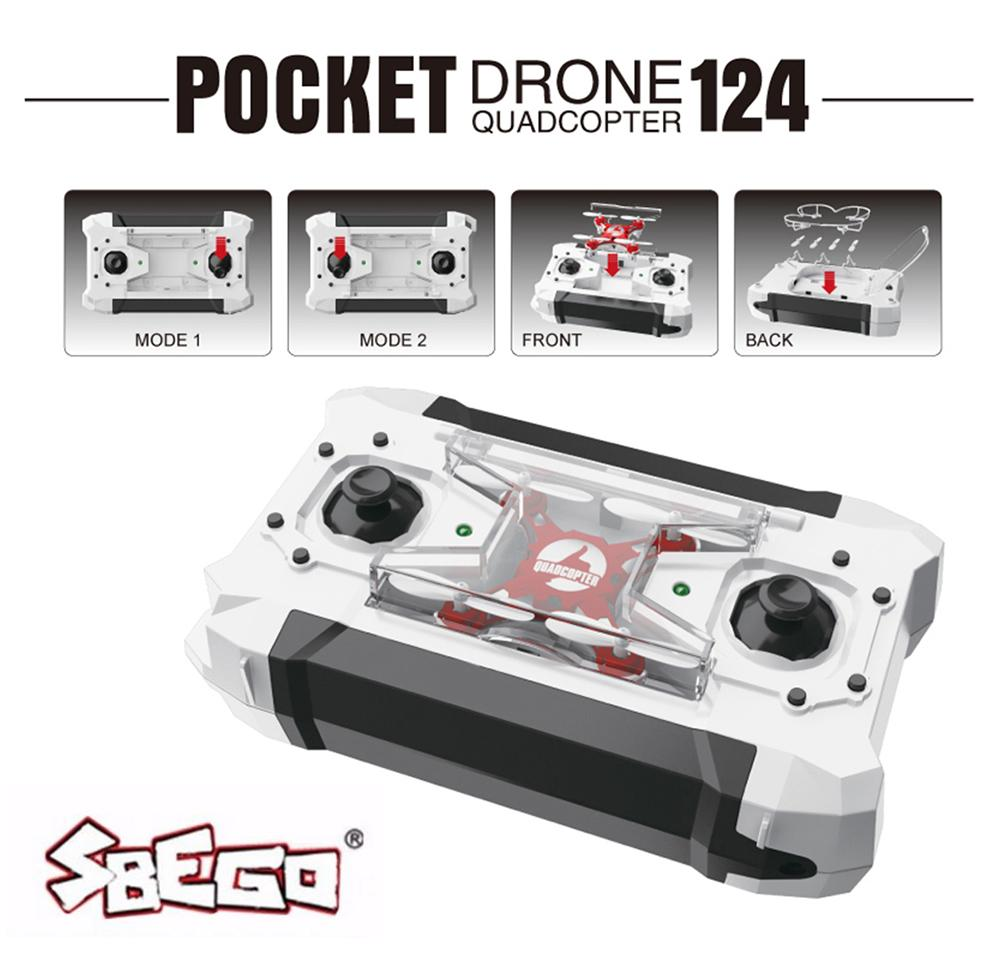 SBEGO FQ777-124 Mini Drone Micro Pocket 4CH 6Axis Gyro Switchable Controller RC Helicopter Kids Toys VS JJRC H31 H37 Quadcopter