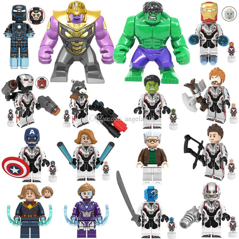 Avengers 4 Endgame Building Blocks Toys cartoon Super hero Hulk Iron Man Captain America Bricks For Kids Holiday Birthday Gifts C6503
