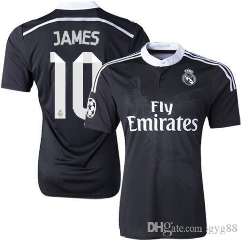 buy popular f5890 fe180 Ronaldo Chicharito Benzema Bale Isco james 2014 2015 Real Madrid retro  soccer jersey 14 15 vintage third black football shirt Chinese dragon
