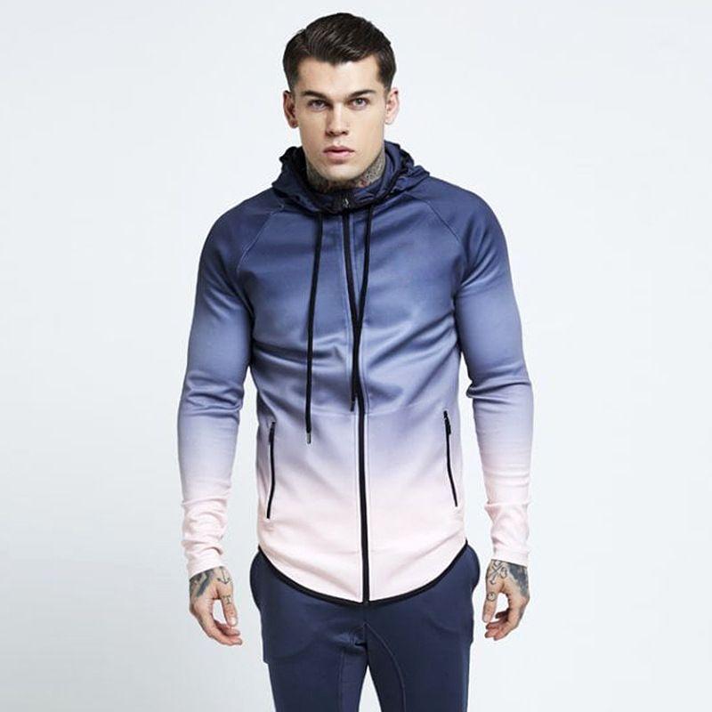 d2a4840216e3d 2019 Fashion Hoodies Men Casual Tracksuit Autumn Winter Drawstring Pocket  Hooded Sweatshirt Hip Hop Gradient Streetwear Male Jacket From  Youfanweistore, ...