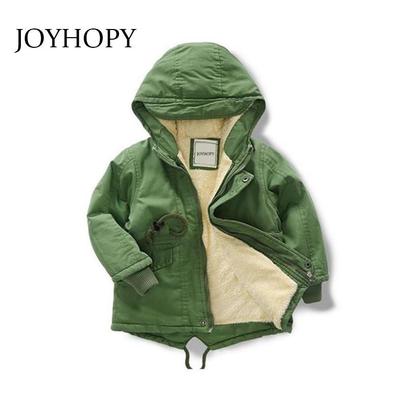 15ca7333e JOYHOPY Children Clothing Winter Baby Boys Coats Cotton Thicken ...