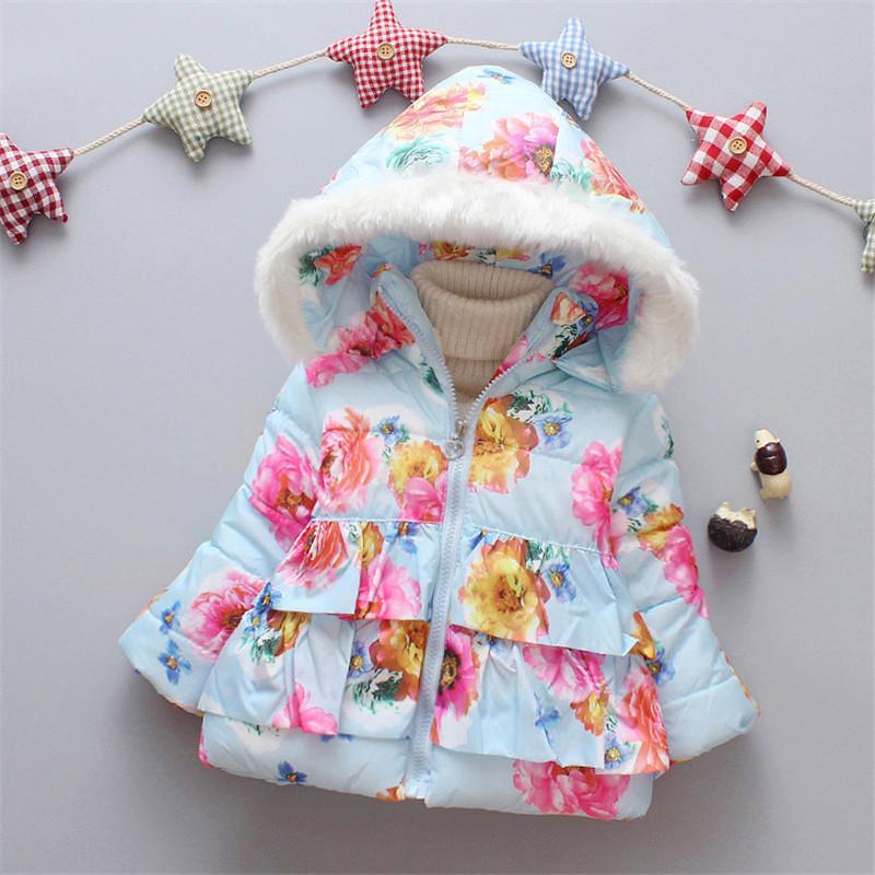 0080c7a6d BibiCola Girls Coat Winter New Fashion Hoodie Clothing Children ...