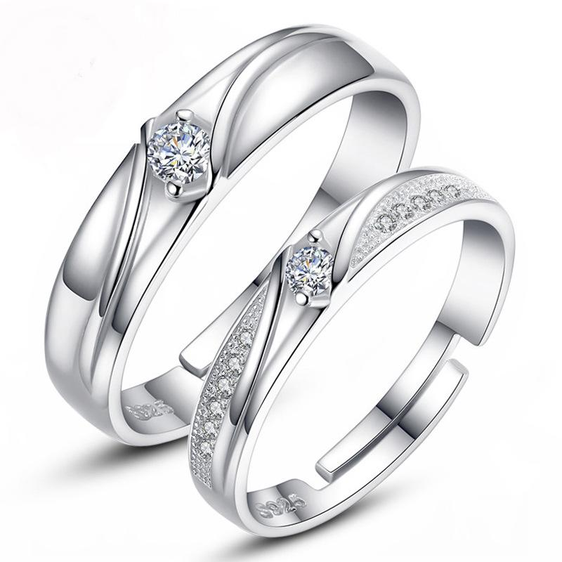 0da995b7f4 2019 2019 New Hot Sale Couple Ring / Set Of 925 Sterling Silver Inlaid 3A  Zircon Wedding Ring From Exquisitewoman, $1.03 | DHgate.Com