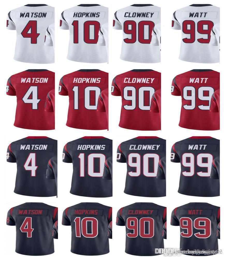 cf6cea3bf 2019 Houston Texan Jersey Men S  4 Deshaun Watson 99 JJ Watt 90 Jadeveon  Clowney 10 DeAndre Hopkins Vapor Untouchable Limited Jerseys From  Ziyistore