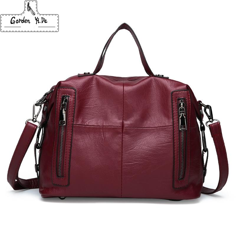 2d7107cf3a New Year S Gift Crossbody Bags For Women Messenger Bags 2019 Vintage Leather  Handbags Women Famous Brand Shoulder Sac Femme Mens Bags Messenger Bags For  ...