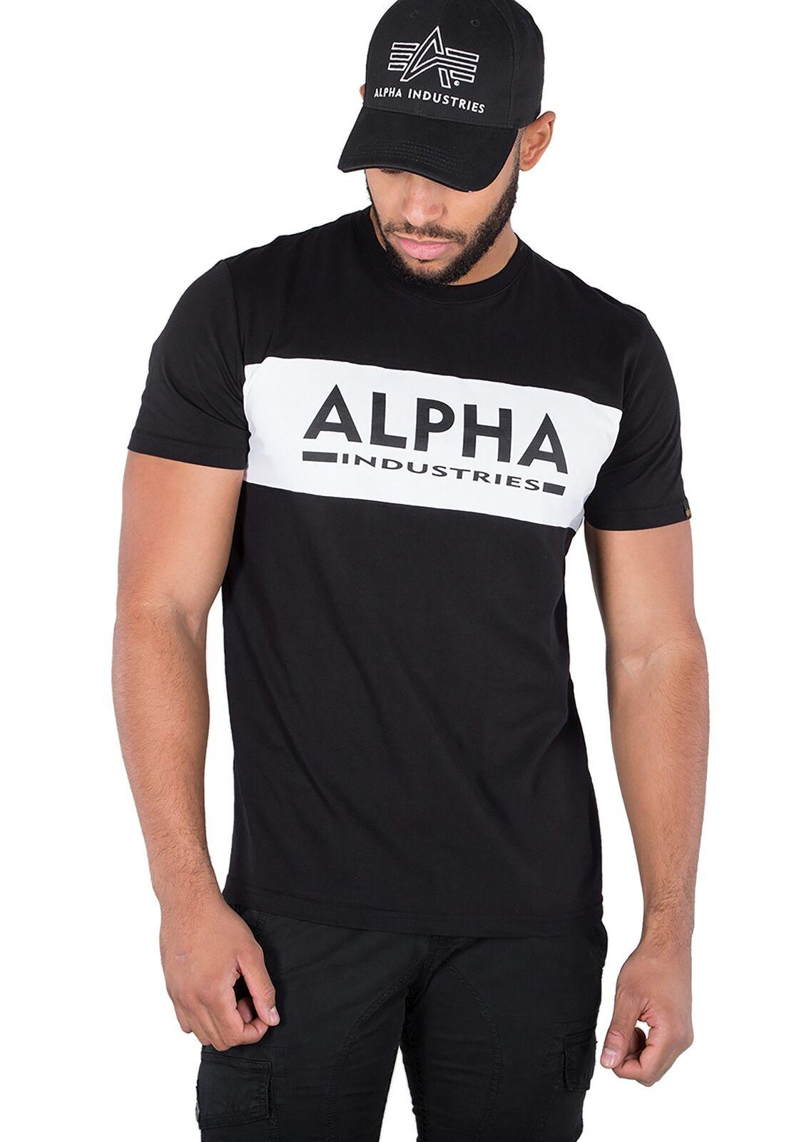 the best attitude dd0ea 2c4c3 Alpha Industries Herren Men T-Shirt Inlay T Oberteil Shirt MA1 S bis 3XL  NEU colour jersey Print t shirt