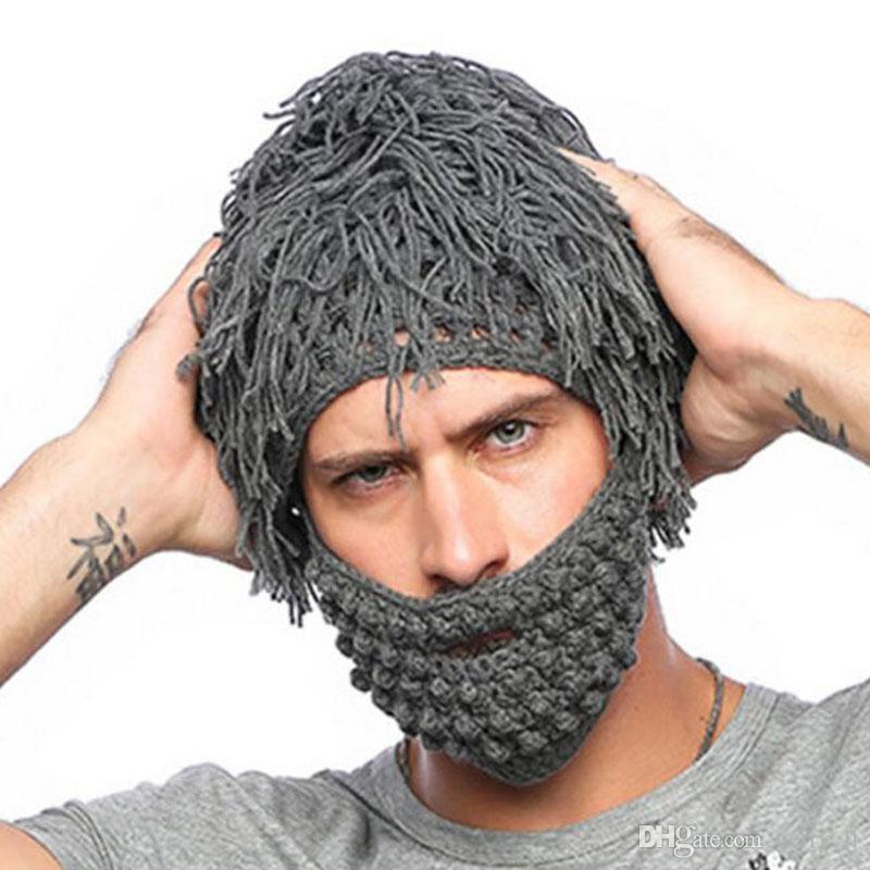 Hat Men Winter Handmade Crochet Hats Men Knitted Tassel Cap Funny Crochet  Hats For Adults Mustache Beard Beanies With Face Mask Baseball Cap Slouchy  Beanie ... ba3afaf40bc