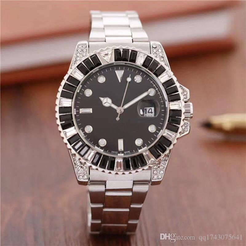 2019 Reloj Hombre Top Designer New Mens Watches Top Brand Bracelet Full Diamond Watch Men Gold Wristwatch Clock Man gift