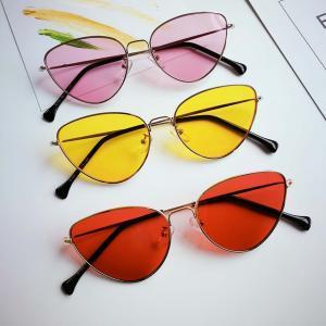 b43300cd78 Cat Eye Sunglasses Fashion Woman Ocean Piece Dyeing Piece Ma Am Metal Frame  Sunglasses Street Time LJJV306 Sports Sunglasses Cheap Prescription  Sunglasses ...