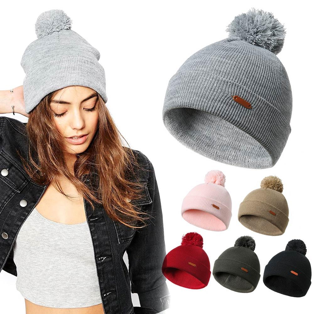 663071f9691 Warm Knitted Hat Ball Hat Casual Style Cute Warm Caps Crochet Cap Knitted  Pompons Ball Best Sale WT Beanie Hoodies From Clintcapela
