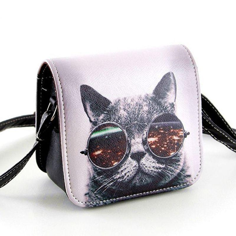 bolsa bolsos carteras mujer marca women pu leather cat wearing big  bolsa bolsos carteras mujer marca women pu leather cat wearing big glasses print shoulder handbags bag d11 86 men bags handbag wholesale from permen,