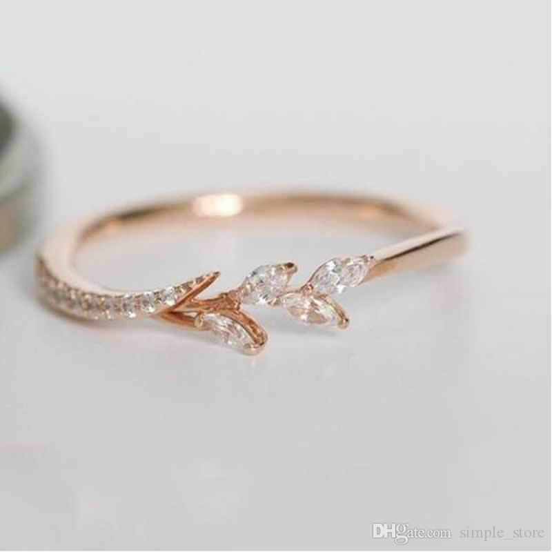 European and American luxury flower twig-shaped ring lady set horse eye zircon party accessories