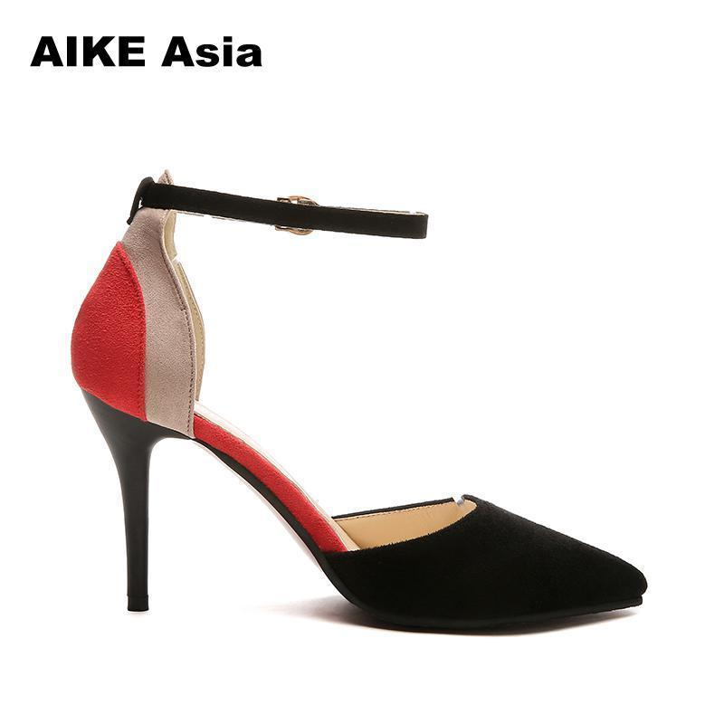 f57c7a17c3 Plus 34 40 Female Fashion Woman String Bead High Heeled Crystal Ankle Strap  Sexy Hollow With Sandals Summer Women Pumps Shoes Footwear Bass Shoes From  ...