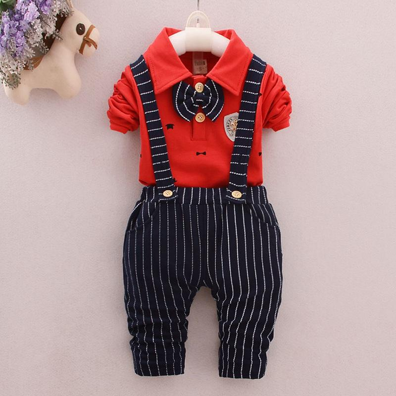 good quality baby boys clothing set spring autumn cotton outfit for baby boy children long sleeve shirt Top+pants boys set