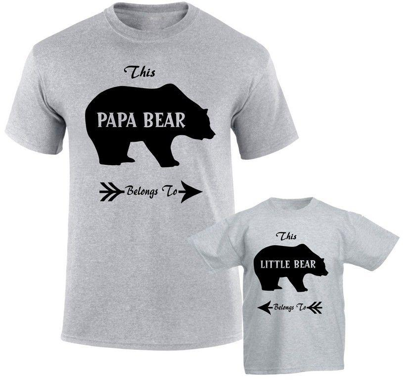 c189ac550 Papa Bear Belongs Little Bear Father Daddy Son Daughter Bear Family T Shirts  Funny Gift Short ,Short Sleeve T Shirt ,Tops Round Neck Tees Printable T  Shirts ...