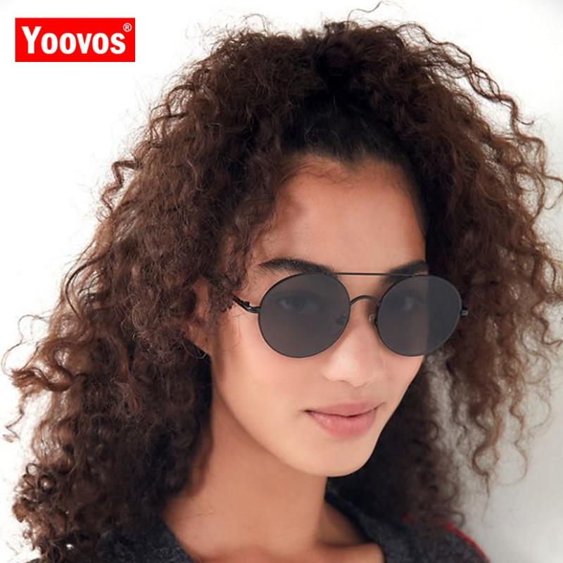 Yoovos 2019 Vintage Round Alloy Sunglasses Women Glasses Lady Luxury Ocean Lens Eyeglasses Mirror Oculos De Sol Feminino UV400