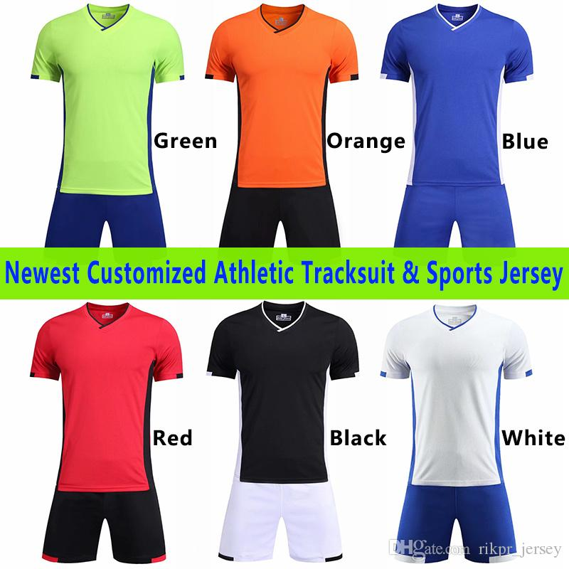 aa1b042d446 Kids Men's Football Shirts Soccer Jerseys Uniform Short Sleeve ...