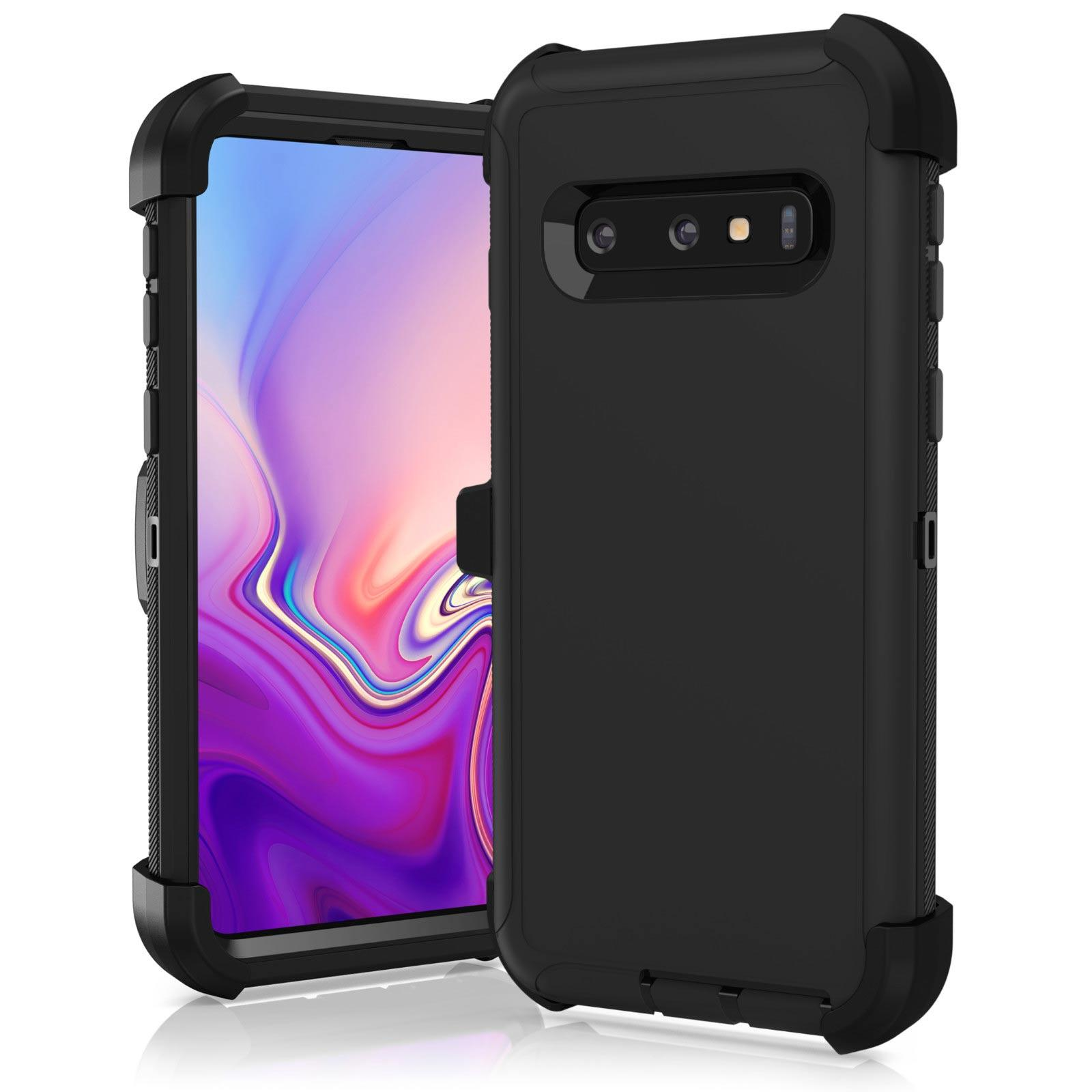 wholesale dealer a9c1d 36d0b New For Samsung Galaxy S8 S9 S10 Plus Note 8 9 Case Shockproof Hybrid (fits  Clip)
