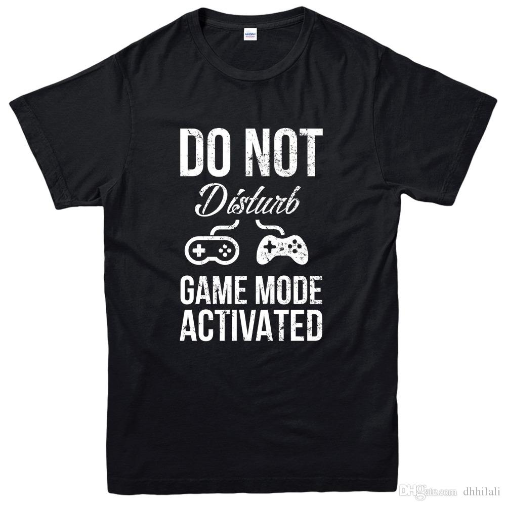 Gildan Game Design T Shirt Do Not Disturb Game Mode Activated Tee