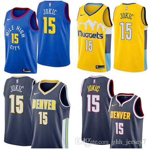buy online b1c4b d0cc0 new style denver nuggets jersey yellow 60aef 68a38