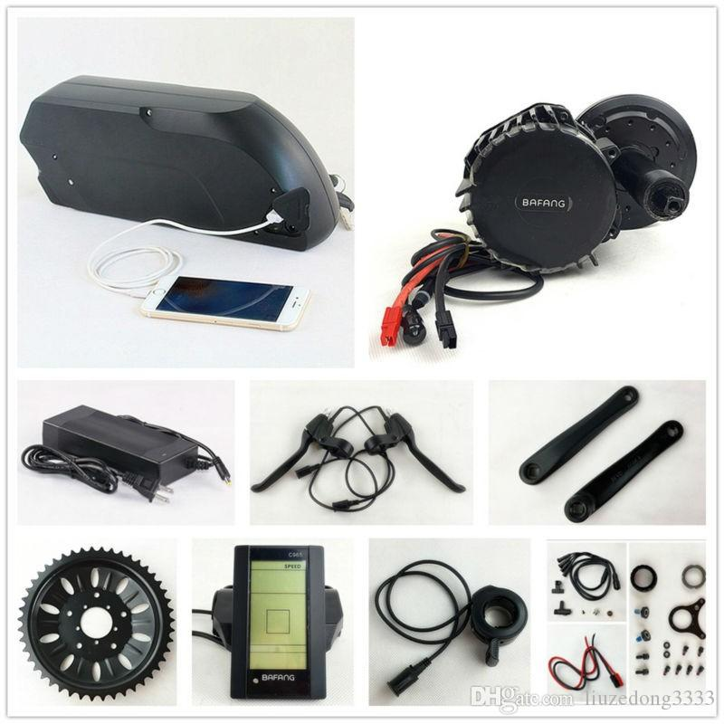 Bafang BBSHD 48V 1000W eBike Motor BBS03 8fun mid drive electric bicycle  conversion kit with 48V 14 5AH E-Bike frame battery