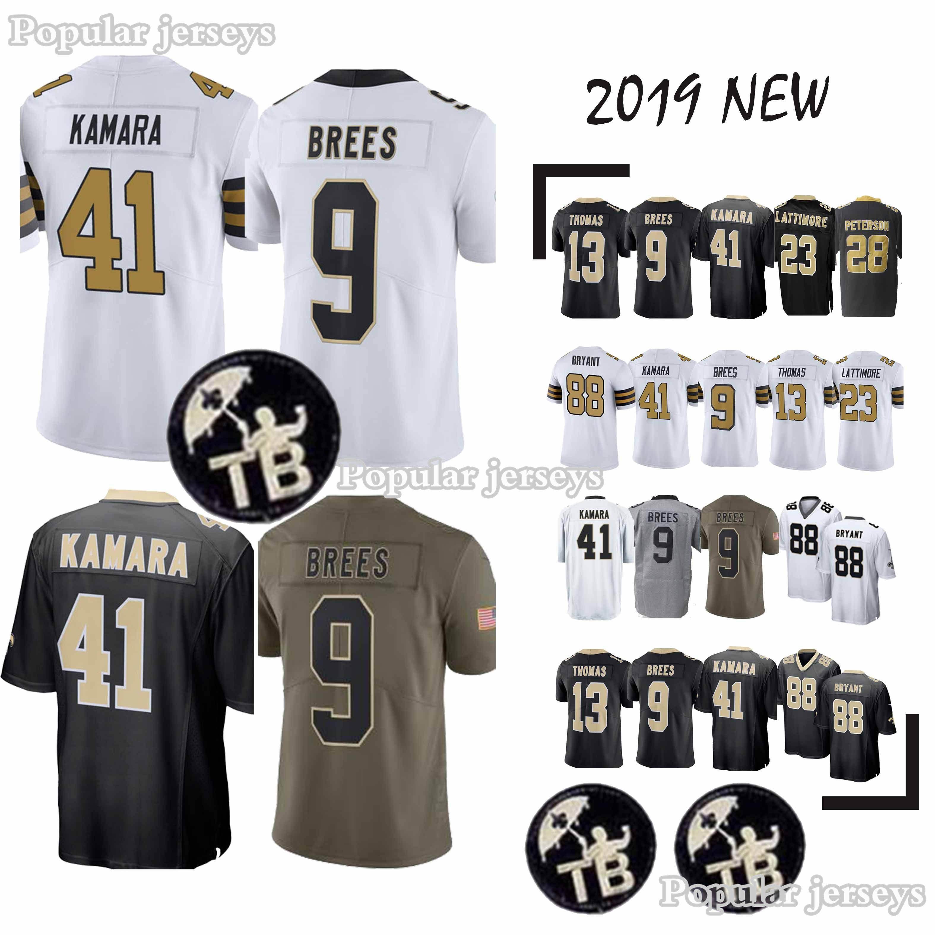 33e81ce85 New Orleans Jerseys Saints 41 Alvin Kamara 9 Drew Brees 23 Marshon ...