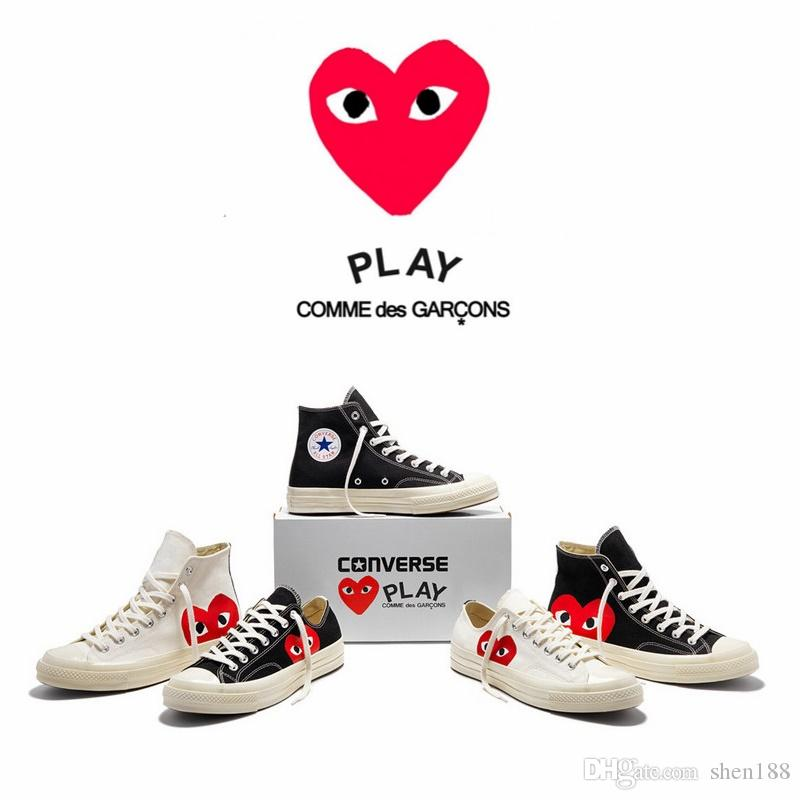 aa7b8b1c8ac4 With BoxComme Des Garcons Play X Converse Chuck Taylor All Star 1970s High  Top Sport Shoes Black Casual Canvas Shoes Clogs For Women Shoe Boots From  Shen188 ...