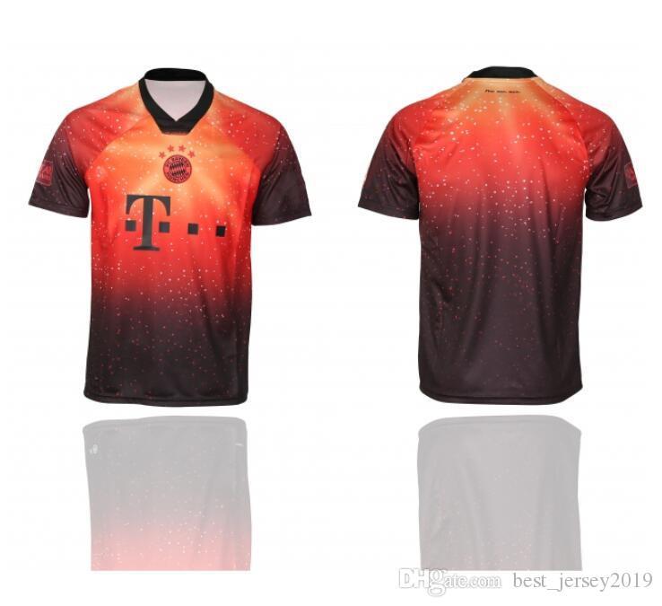 brand new b9814 e5ed1 2019/20 Bayern Munich Soccer Jerseys LEWANDOWSKI ROBBEN MULLER JAMES  KIMMICH TOLISSO 4th EA SPORTS Custom Men Women Youth Football Shirts