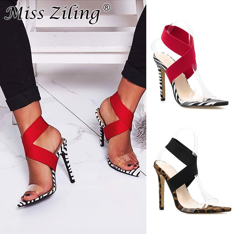 6164a4e335ecaa 2019 Explosive Stretch Elastic Band Cross Set Foot Sexy Pointed High Heel  Sandals Sparx Sandals Blue Shoes From Kay5225