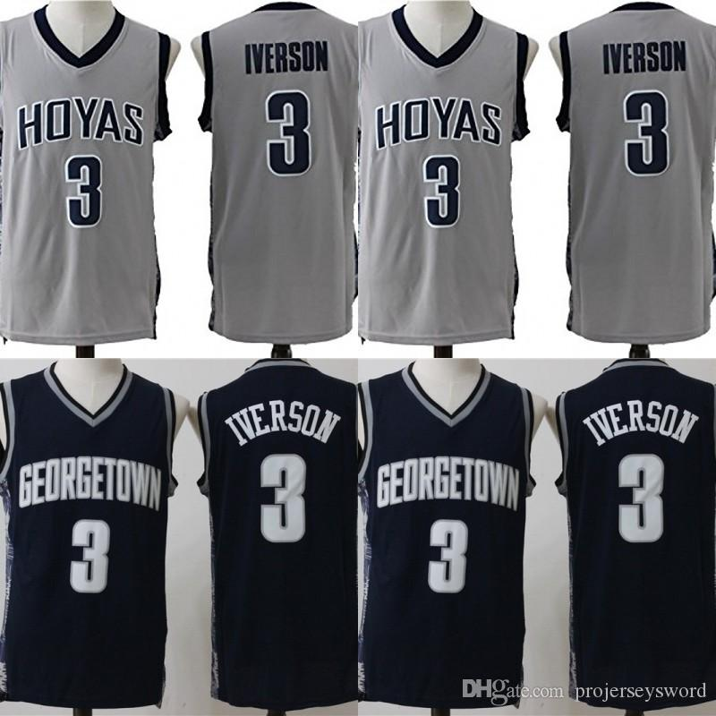 02f23bbce538 2019  3 Allen Iverson Georgetown Hoyas NCAA Jersey Mens All Stitched Allen  Iverson University College Basketball Jerseys Fast Shipping From  Projerseysword