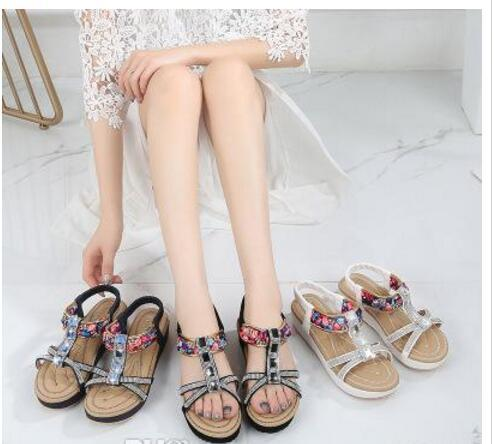 5419324dee831 2019 Fashion New Sandals Female Summer Flat Round Head Women S Shoes  Bohemian National Wind Comfortable Women S Sandals Wild Wedges Espadrilles  From Bhkfa6
