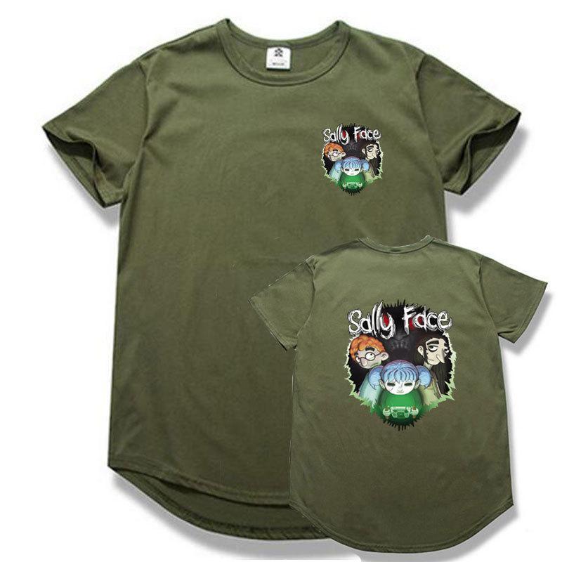 3dd3e2999 Fashion Hip Hop Round Hem Sally Face T Shirt Short Sleeve Summer Cotton T  Shirts Streetwear Sally Face Tshirt Men Silly Tee Shirts Tee Shirt Site  From ...