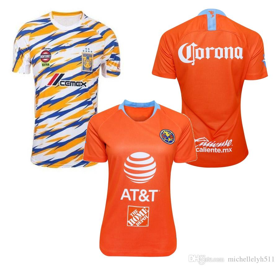 c37b0e16f17 2019 19 20 Ladys America Soccer Jerseys 2019 LIGA MX Mexico Club America  Football Shirts Tigres Womens Football Tops Female Sports Uniform From ...