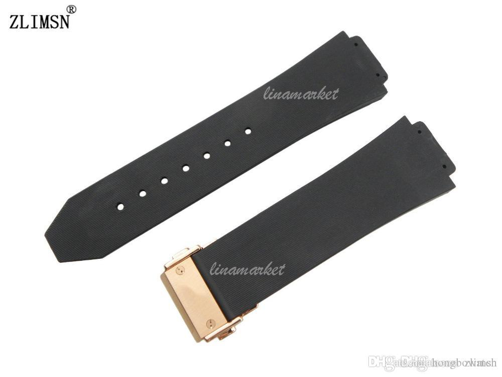 ada620c39b6 Mens Black Diver Watchbands ZLIMSN 26mm X 19mm Silicone Rubber Watch BAND  Strap With Deployment Clasp Relojes Hombre 2016 G S HUB27 Watch Straps For  Sale ...