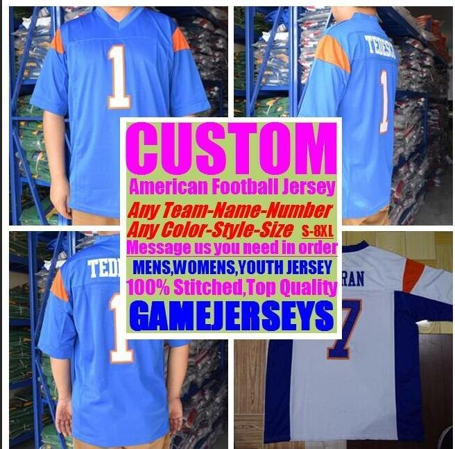 53e76bce6 2019 Customized American Football Jerseys College Cheap Authentic Color  Rush Sports Jersey Stitched Mens Womens Youth Kids 4xl 5xl 6xl 7xl 8xl From  ...