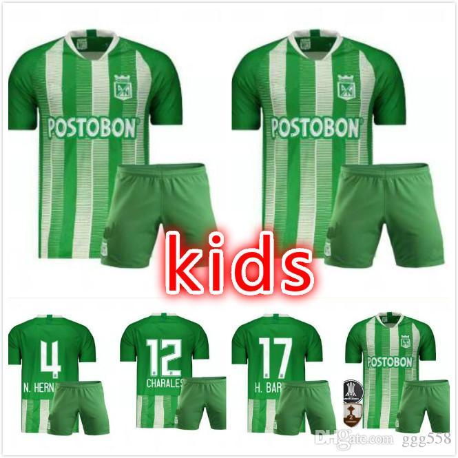 dba49fae6b3d6 Compre   7 DAVID VILLA 2019 2020 Jersey De Fútbol Para Niños Del Atlético  Nacional De Medellín H.BARCOS Colombia Club Medellín Verde Fútbol Fútbol  Camiseta ...