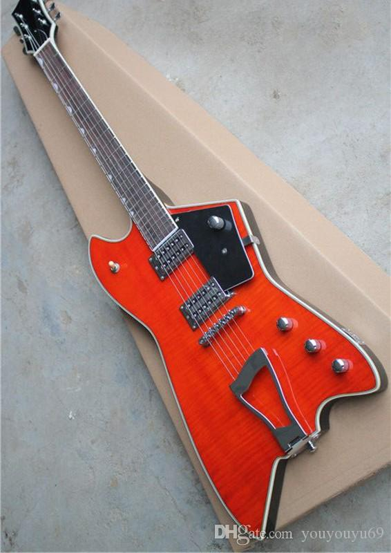 Custom Orange G6199 electric guitar with black shield, chrome hardware,  rosewood scale, personalized service