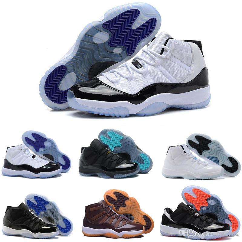 32fa4bcd802b95 2019 Top 11 11s Space Jam Bred Concord Basketball Shoes Men Women 11s Gym  Red Midnight Navy Gamma Blue 7 13 Sneakers From Rourang