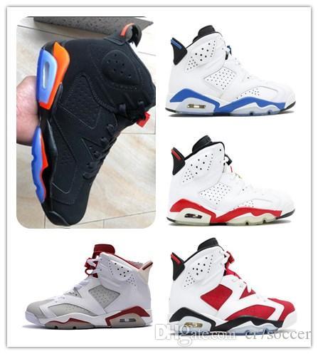 761bbb1b598310 2019 6 Black Infrared Mens Basketball Shoes 6s GATORADE CARMINE UNC ...