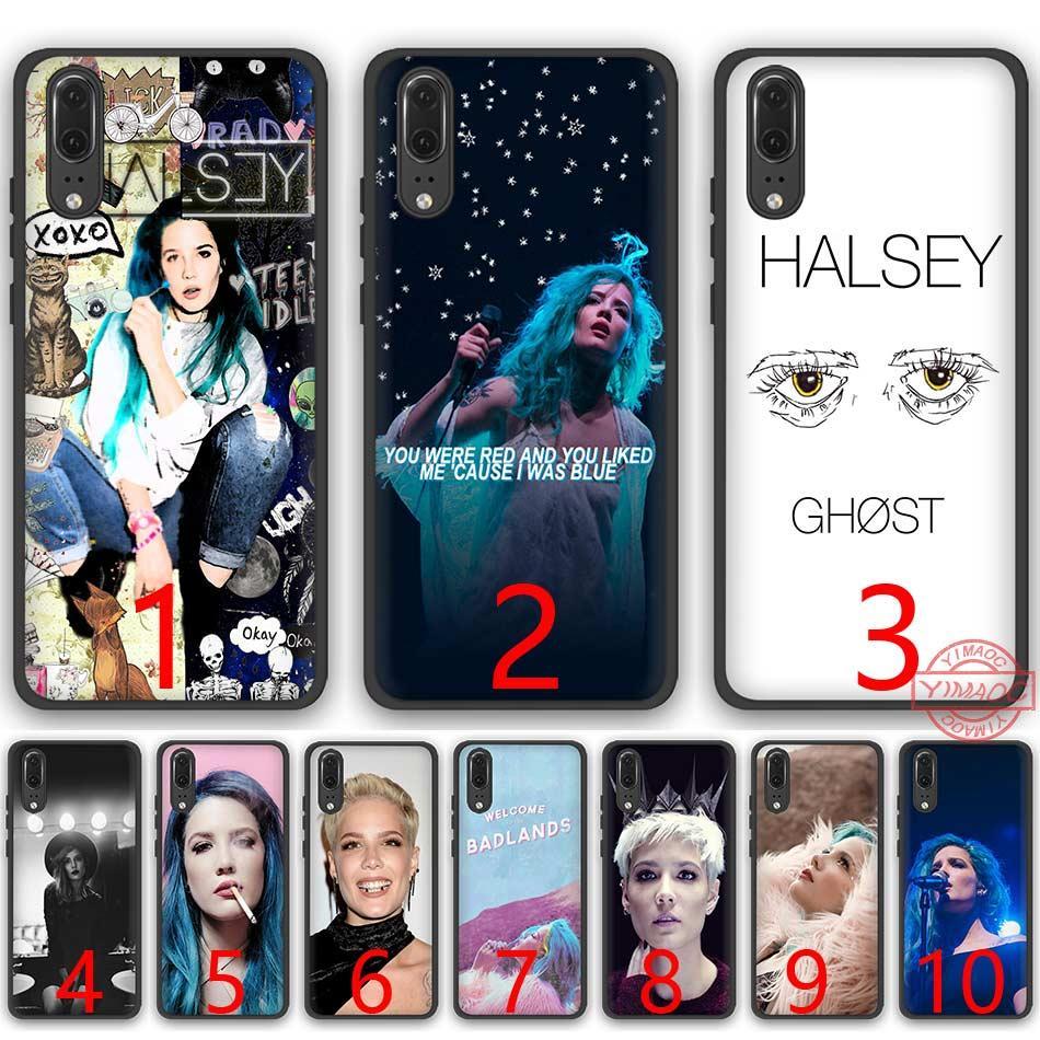 Halsey Colors Lyrics Soft Silicone Black TPU Phone Case for Huawei P8 P9  P10 P20 Lite Pro P Smart Cover