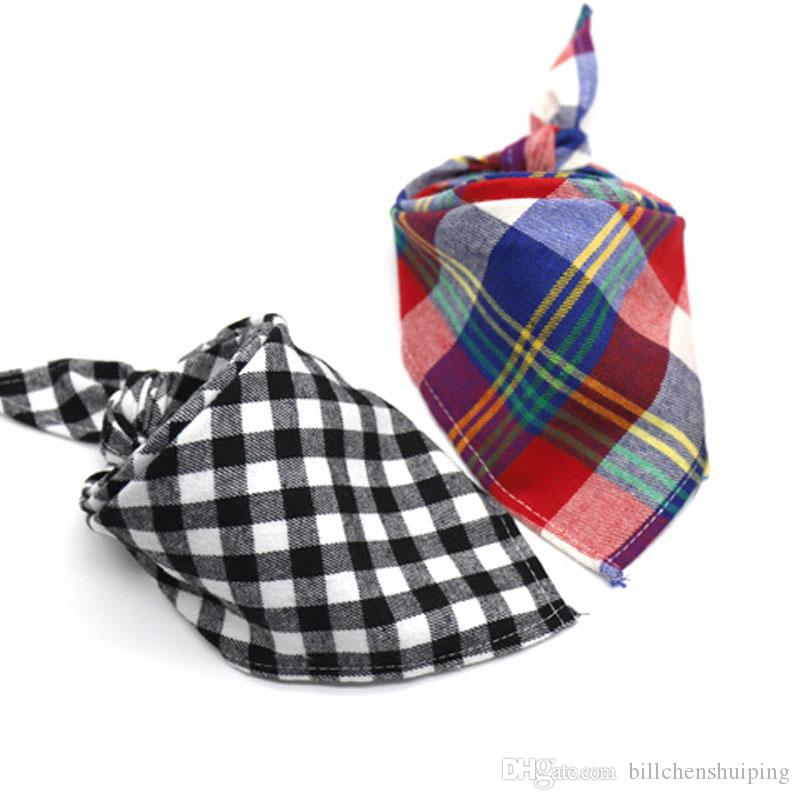 Infant Baby Plaid Saliva Towel Kids Pinafore Dribble Triangle Bibs Burp Cloths For Newborn Free Shipping