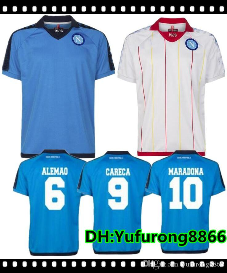 2019 1926 Napoli Retro Soccer Jerseys 2019 Napoli  17 HAMSIK  14 MERTENS   24 INSIGNE Soccer Shirt Customized Football Uniform Sales From  Yufurong8866 ba408d762