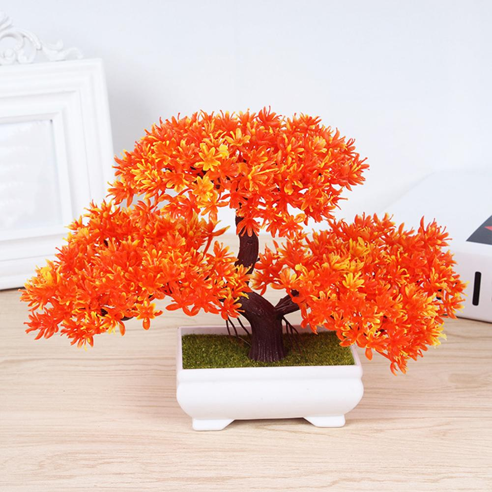 Craft Welcoming Pine Ornaments Home Decor Small Tree Living Room Artificial Potted Plant Hotel Garden Plastic Wedding Party Gift
