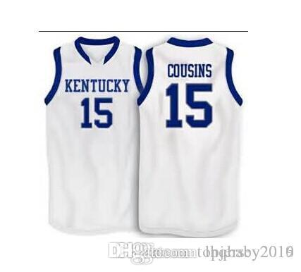 064c65b8dc1 ... shopping 2019 15 demarcus cousins kentucky wildcats basketball jersey  mens college basketball shirts custom any size