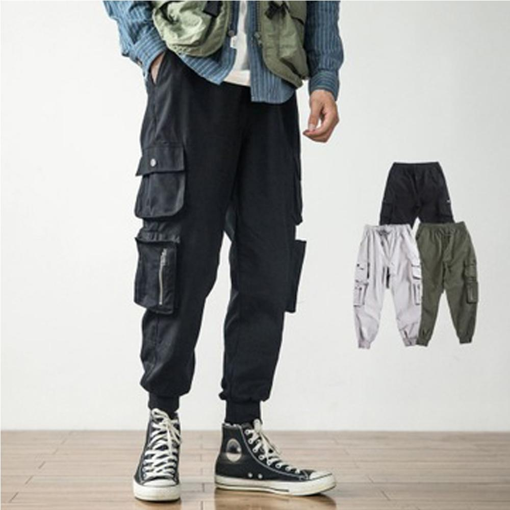 M-4XL Casual Joggers Solid Color Pants Men Cotton Elastic Long Trousers pantalon homme Army Cargo Pants Men Leggings