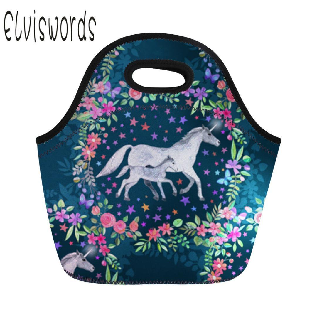 2019 Unicorn Lunch Bag Large Capacity Hand Tote Lady Picnic Travel Meal  Bags Park Picnic Lunch Box