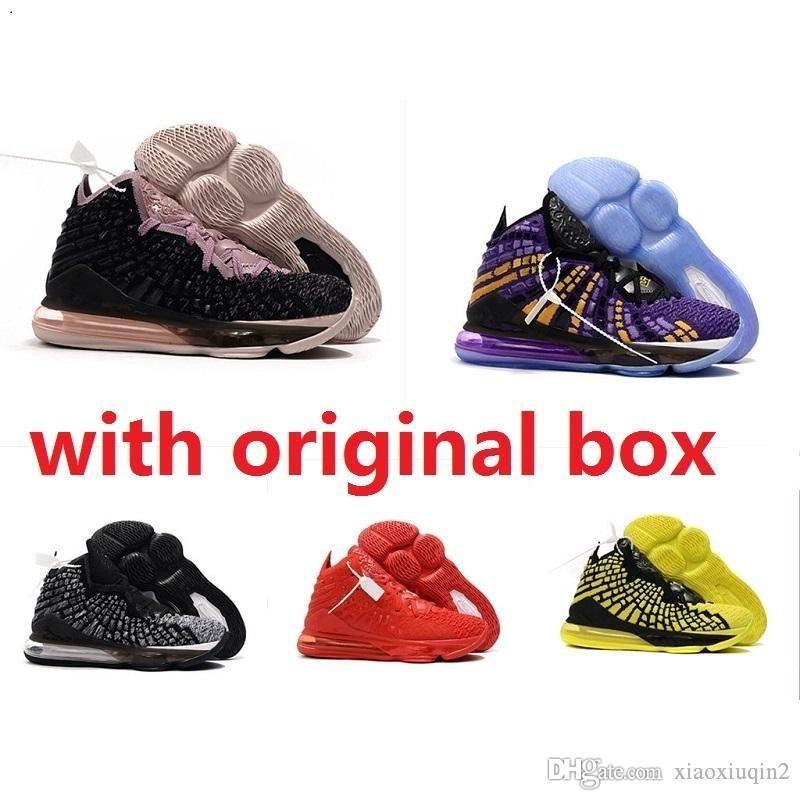 pretty nice 27582 922f4 Cheap new mens lebrons 17 XVII basketball shoes for sale retro lebron james  17s MVP BHM Oreo kids women sneakers boots original box 7-12