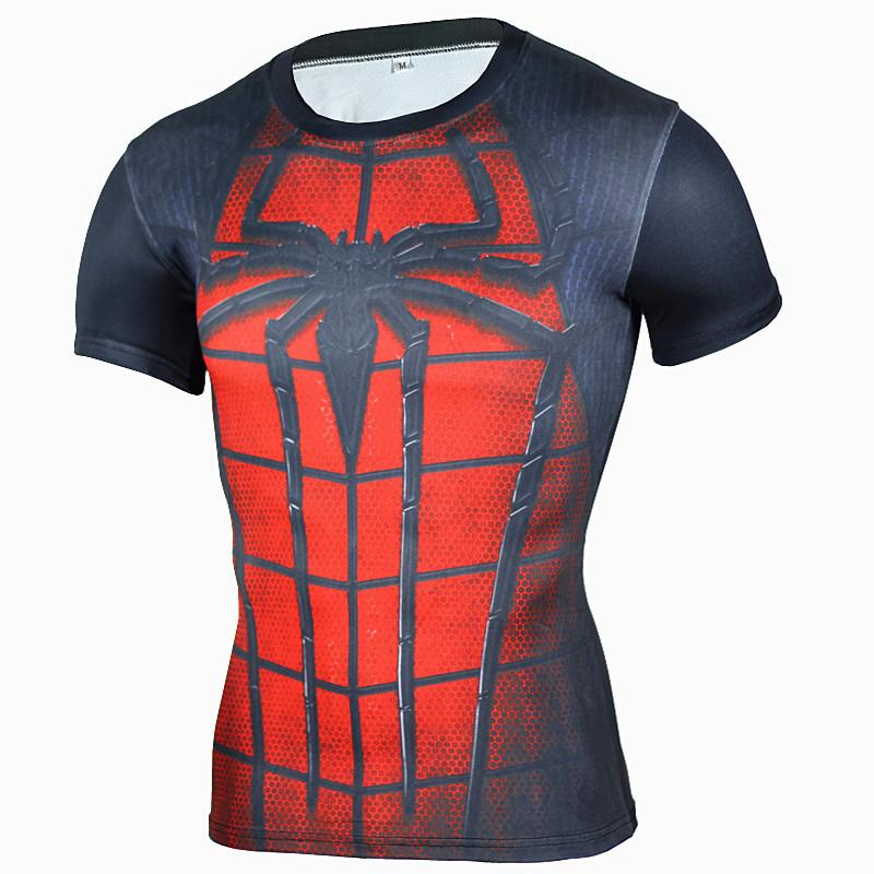 01e9d650 New Arrival Men Fitness 3d T Shirt Spiderman Print Bodybuilding Crossfit T  Shirts Quick Dry Compression Shirts Brand Clothing Tshirts Printed Crazy  Tshirts ...