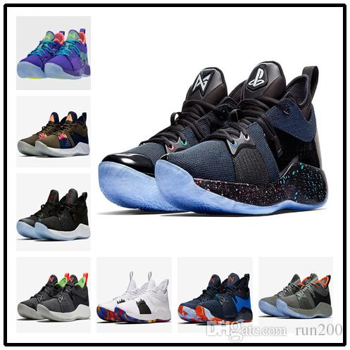 new product 62b3e 416e6 Top Quality PG 2 Playstation shoes for sales With Box Paul George  Basketball Shoes Free Shipping AT7815-002 SIZE40-46
